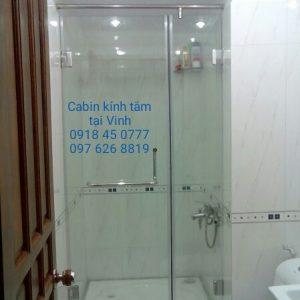 phòng tắm kính tại Hà Tĩnh